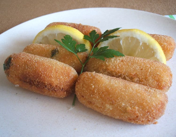 Fish croquettes on a plate
