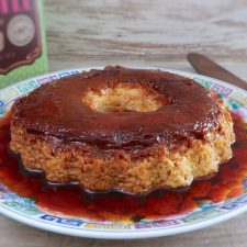 Flan on a plate