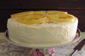 Pineapple cake on a plate
