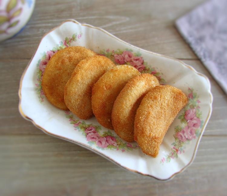 Tuna rissoles on a small platter
