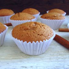 Cinnamon muffins on a table