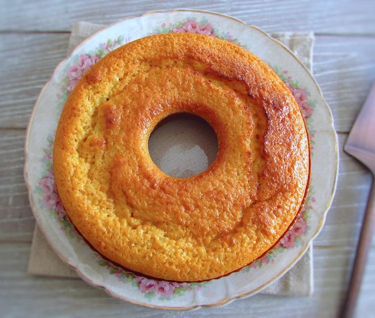 Lemon cake on a plate