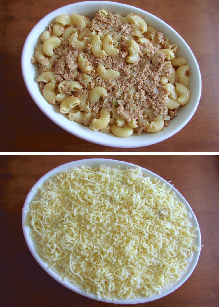 Tuna pasta gratin in the oven steps