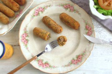 Beef croquettes on a plate