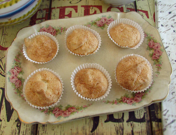 Almond cupcakes on a platter