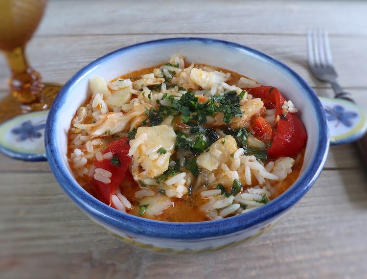 Cod rice on a tureen