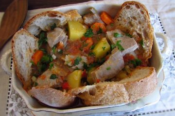 Lamb stew on a tureen