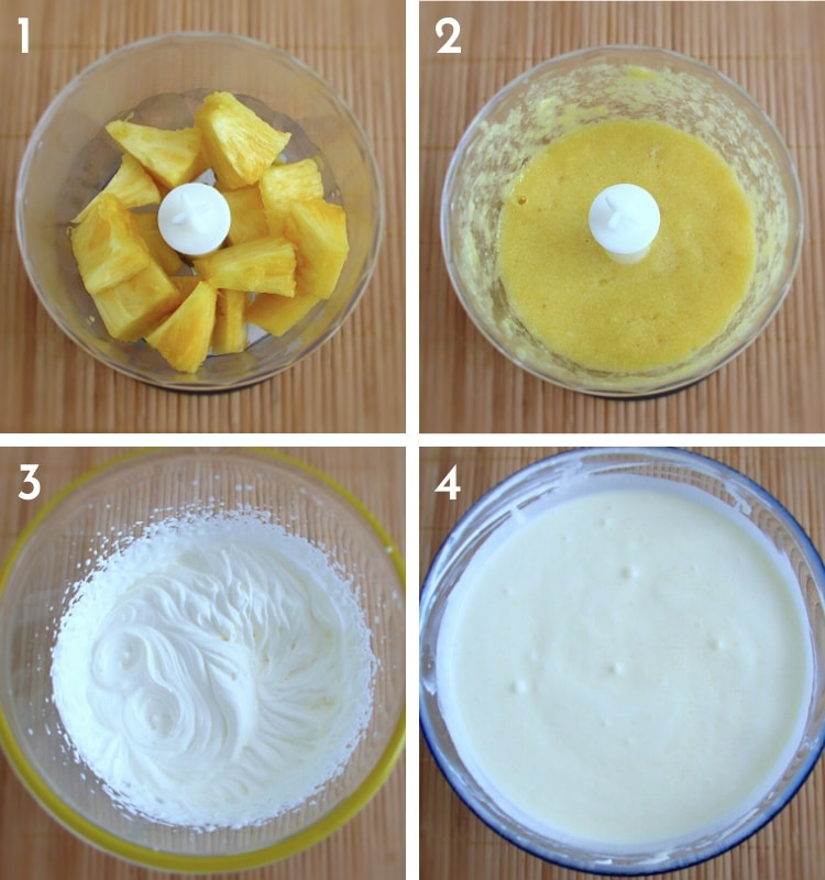 Pineapple mousse steps