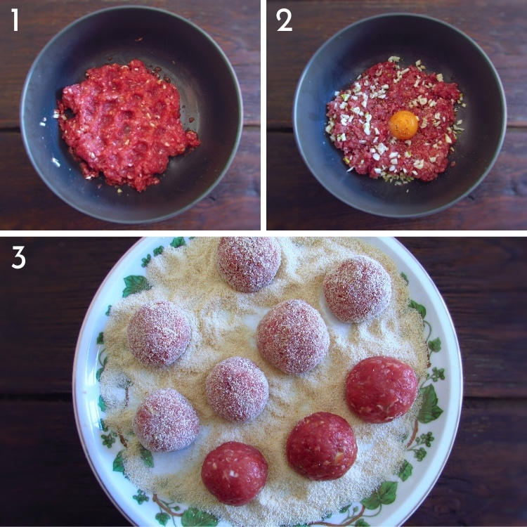 American meatballs steps