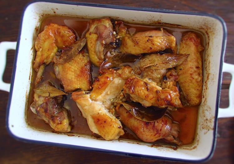 Chicken delight on a baking dish