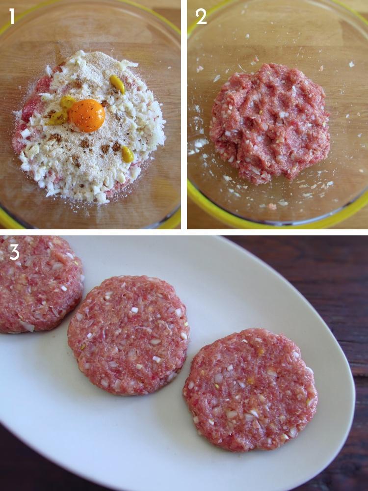 Hambúrguer com molho Americano passos