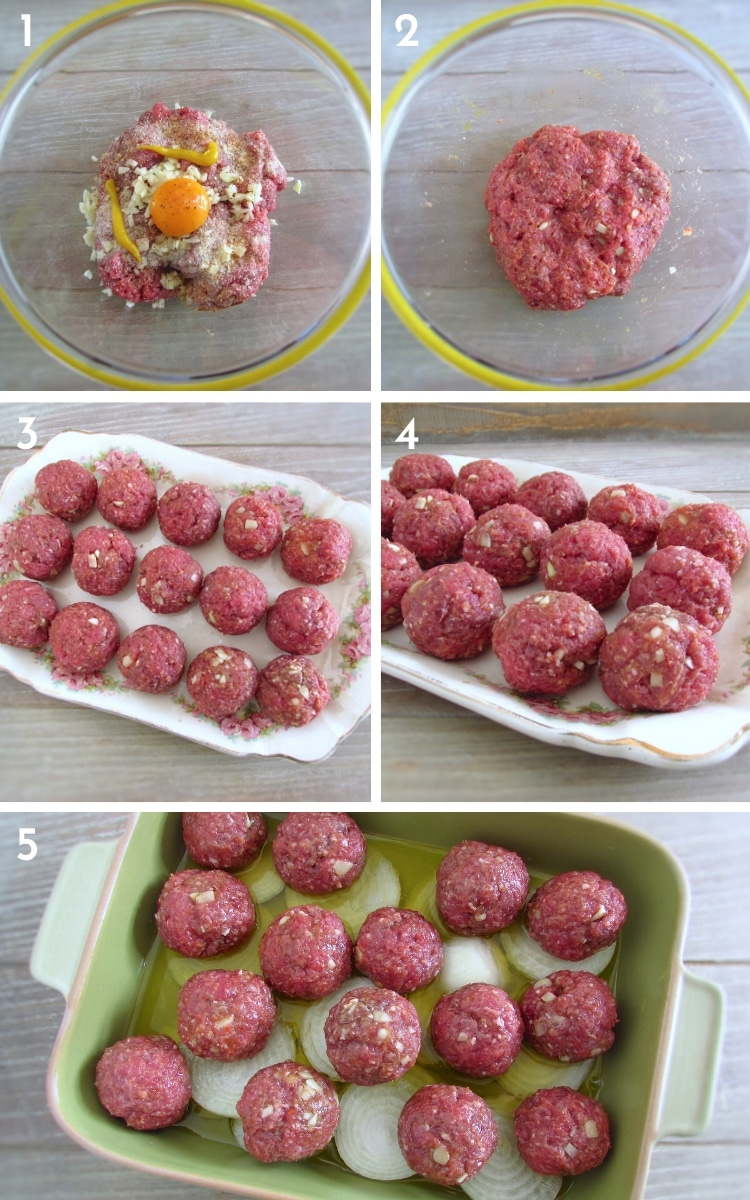 Meatballs in the oven steps