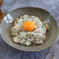 Portuguese cod bread soup on a dish bowl