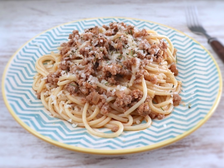 Spaghetti Bolognese on a plate