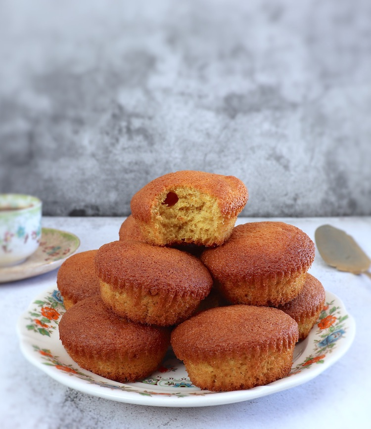 Orange muffins on a plate
