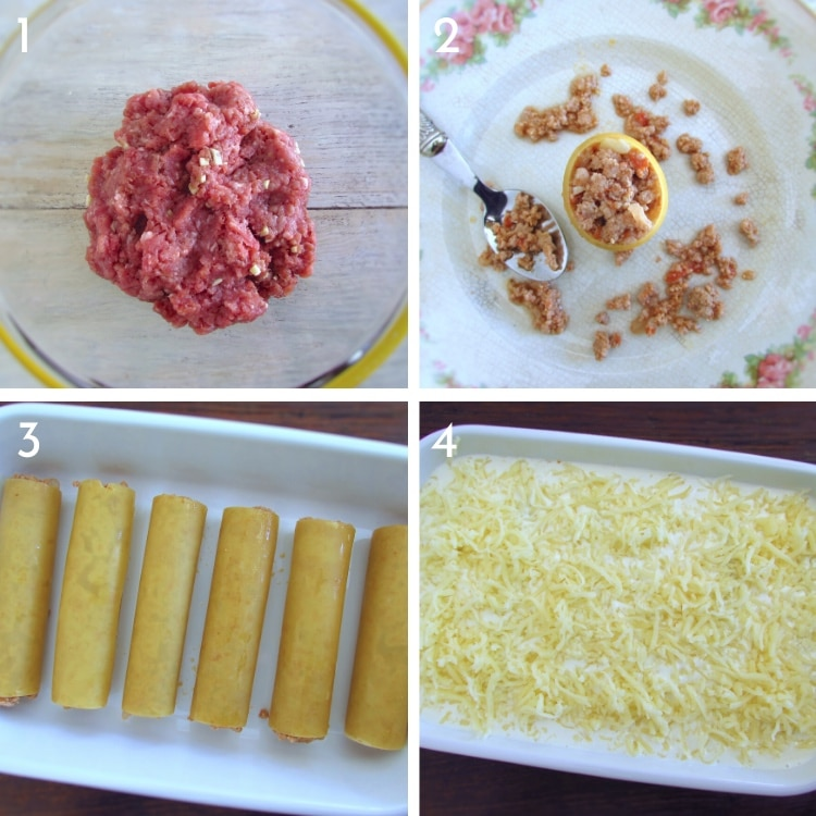 Meat cannelloni steps