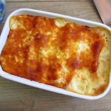 Tuna cannelloni on a baking dish