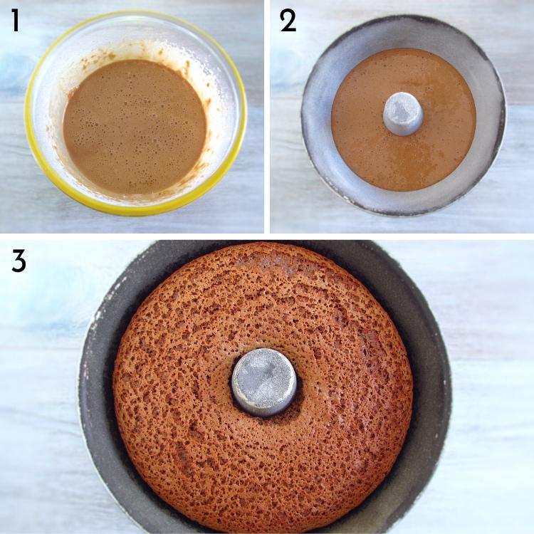 Chocolate sponge cake steps