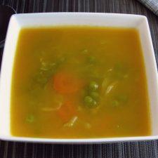 Juliana soup on a dish bowl