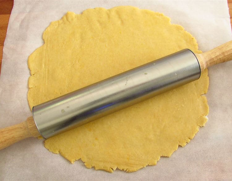Pastry with a rolling pin