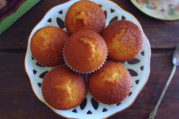 Milk muffins on a dish