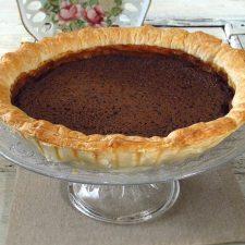 Sugar pie on a plate