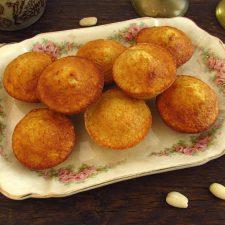 Almond muffins on a platter