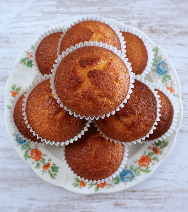 Coconut muffins on a plate