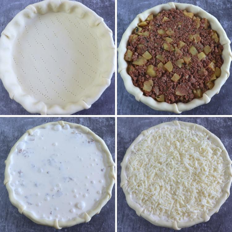 Meat and potato pie steps