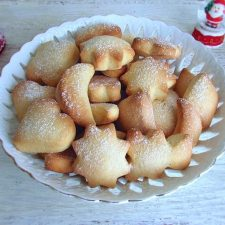 Christmas biscuits on a bowl