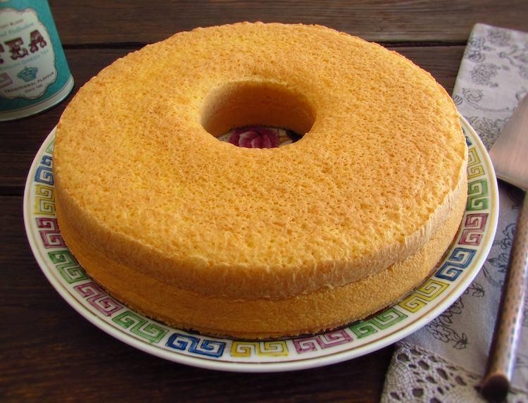 Brandy cake on a plate