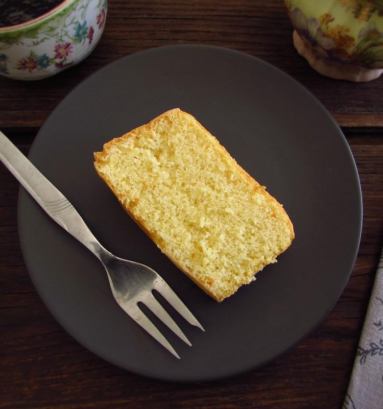 Brandy cake slice on a plate
