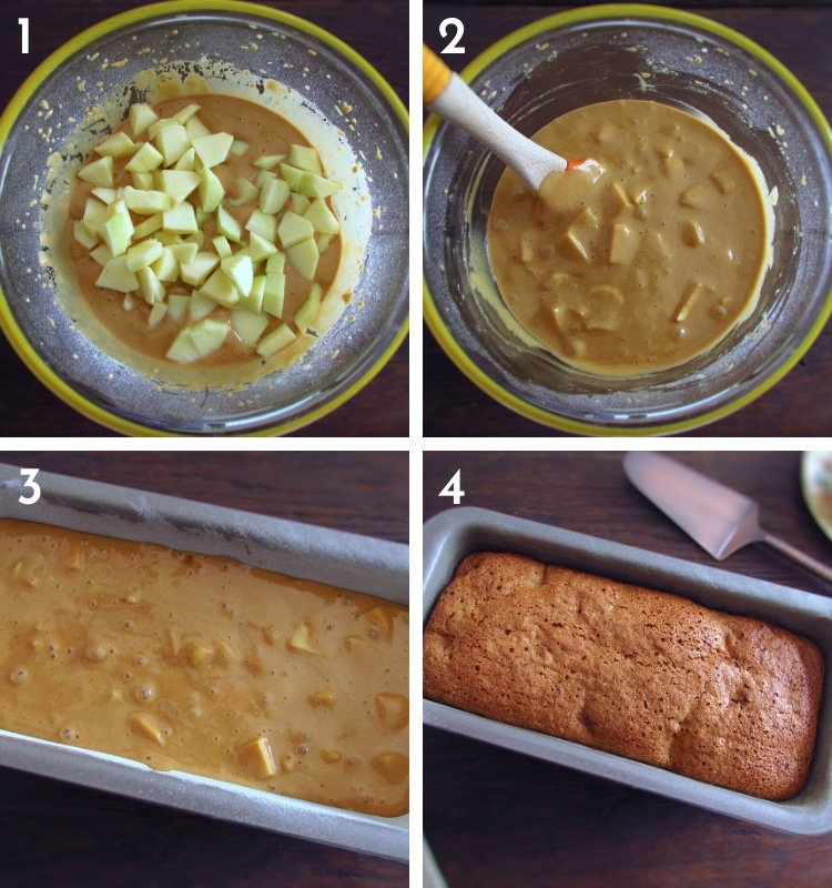 Apple coffee cake steps