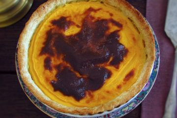 Portuguese Custard pie on a plate