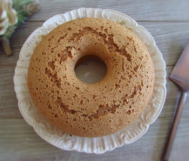 Cinnamon fennel cake dough on a plate