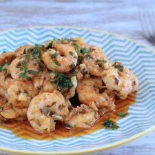 Simple shrimp on a plate
