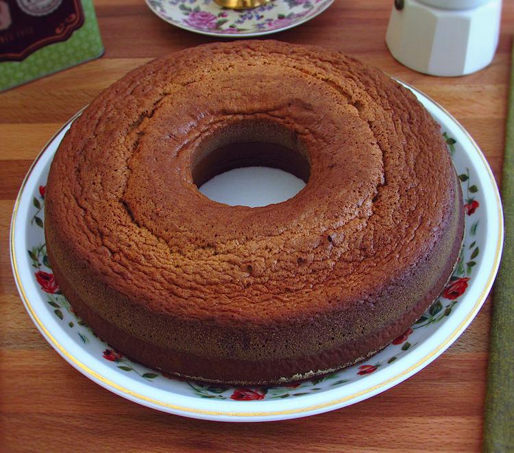Honey cinnamon cake on a plate