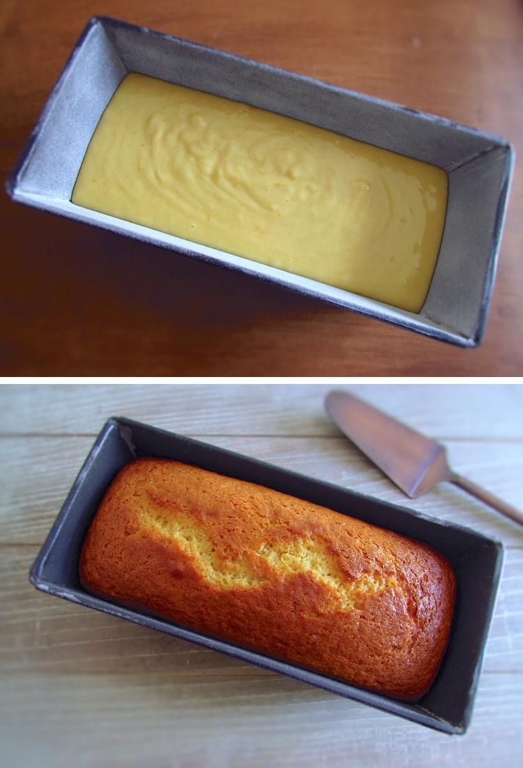 Olive oil cake steps