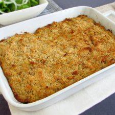 Cod souffle on a baking dish