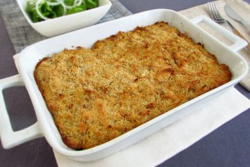 Cod souffle on a baking dish
