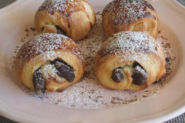 Pain au chocolat on a plate