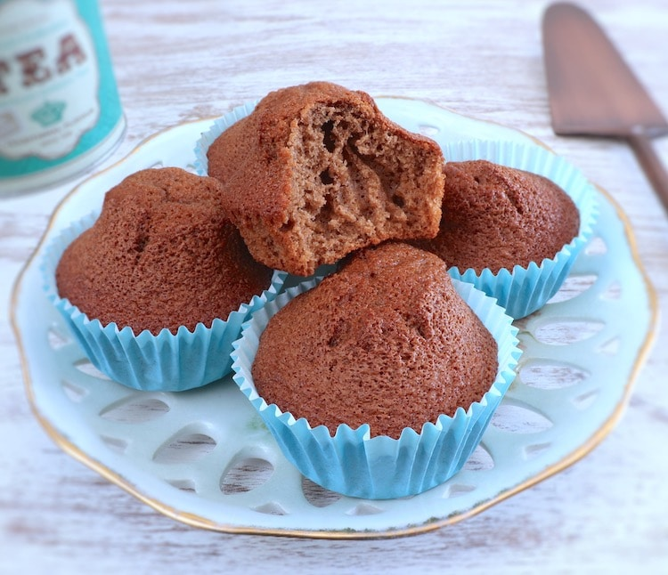 Simple chocolate orange muffins on a plate