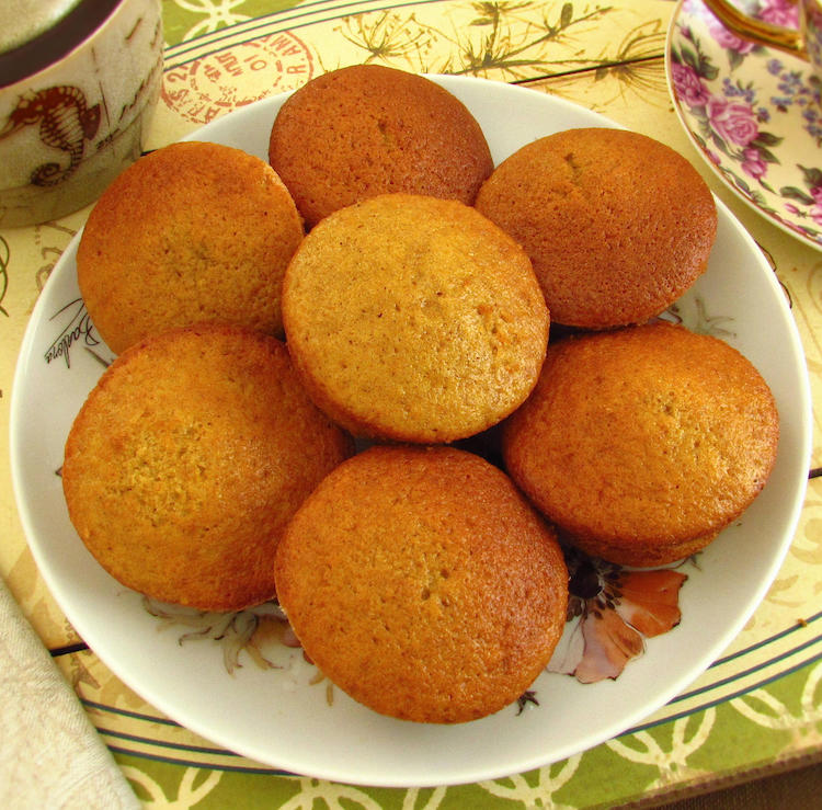 Carrot orange muffins on a plate