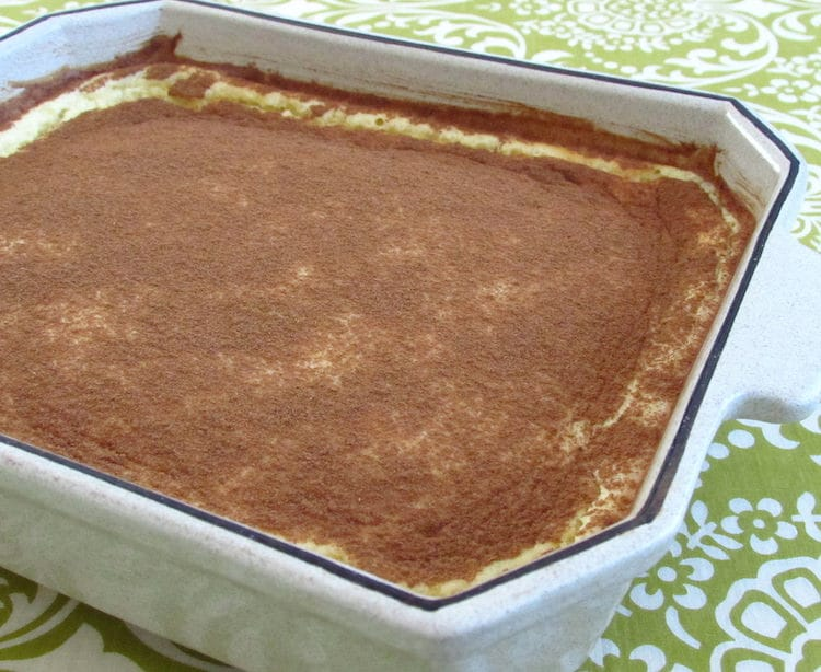 "Sericaia ""Portuguese sweet"" on a baking dish"
