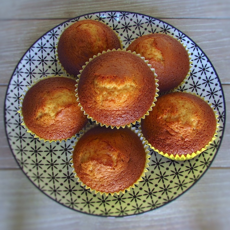 Honey muffins on a plate
