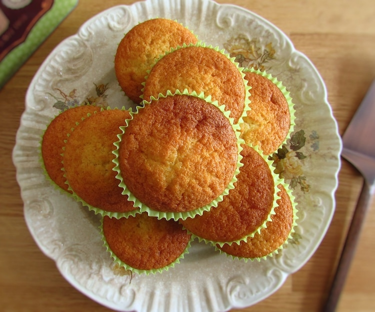 Butter muffins on a plate