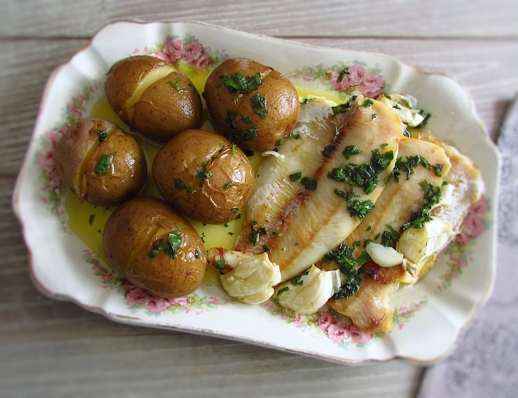 """Hake fillets """"à lagareiro"""" 