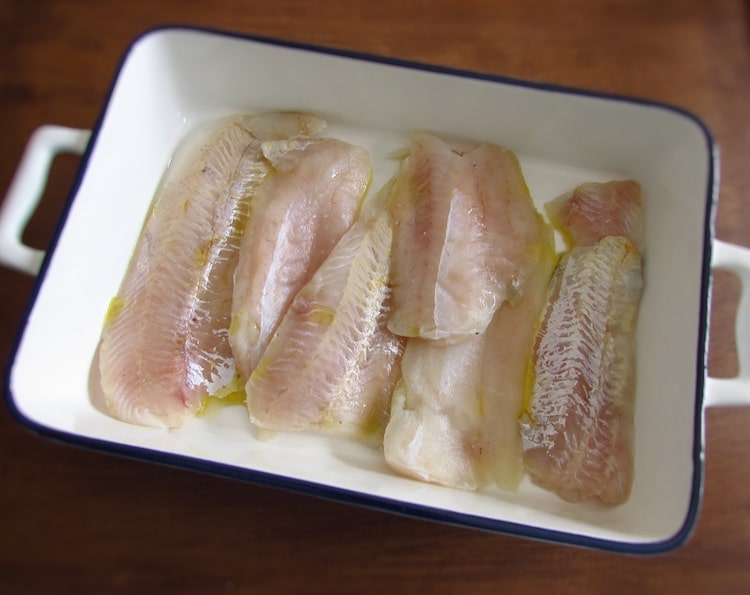 "Hake fillets ""à lagareiro"" 