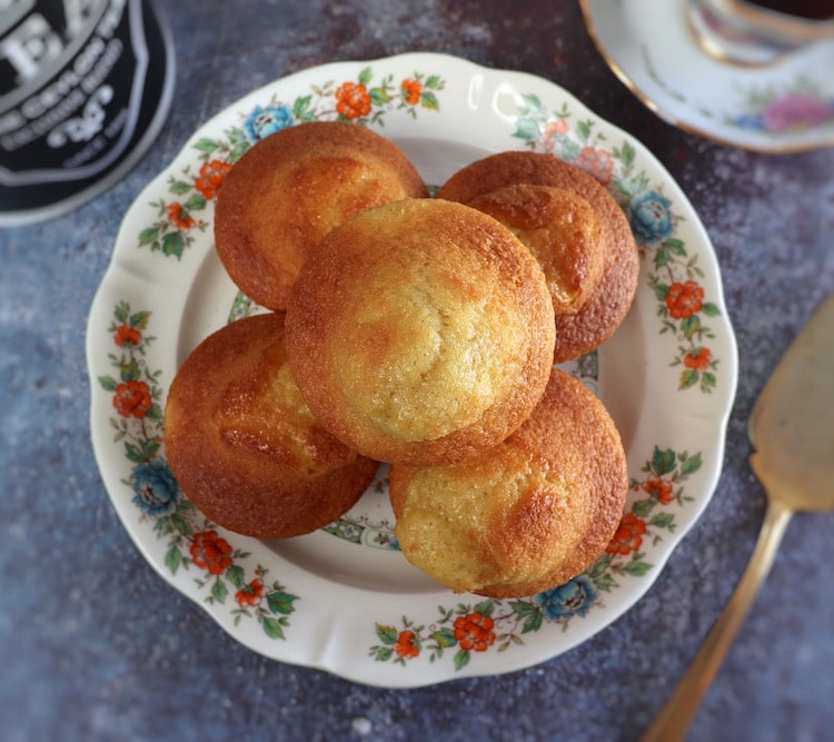 Homemade muffins on a plate