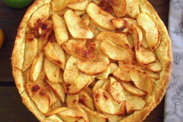 Tarte de maçã, mel e canela